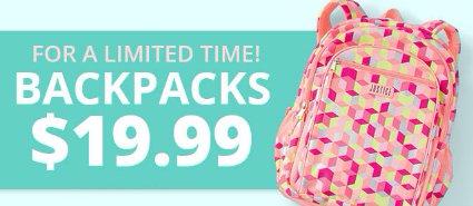 Shop $19.99 Backpacks