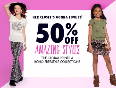 50% Off Global Prints & Boho Collections