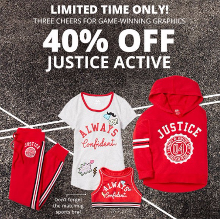 40% Off Justice Active