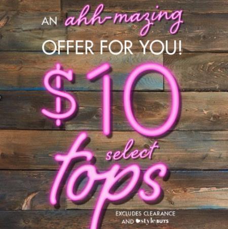 $10 Select Tops