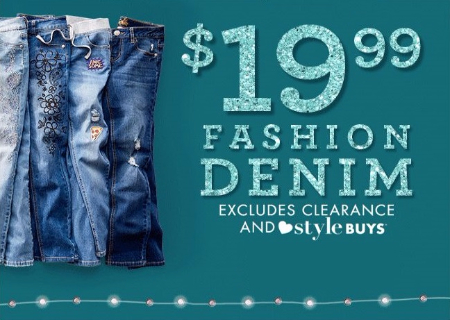 $19.99 Fashion Denim