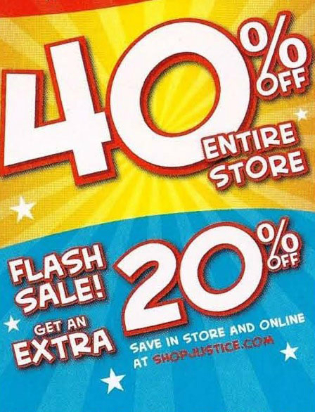 Flash Sale at Justice