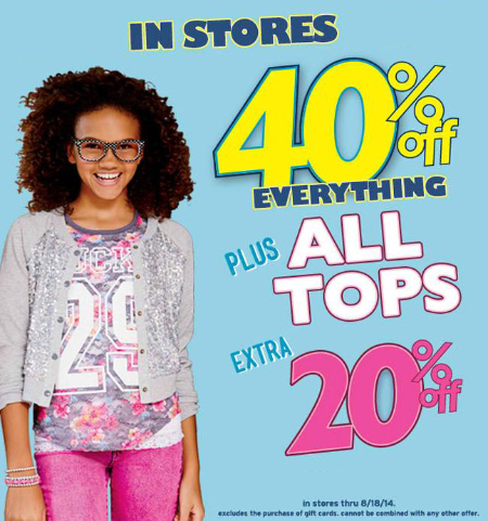 40% Off Everything at Justice