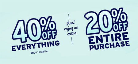 40% Off Everything Plus 20% Off Entire Purchase at Justice