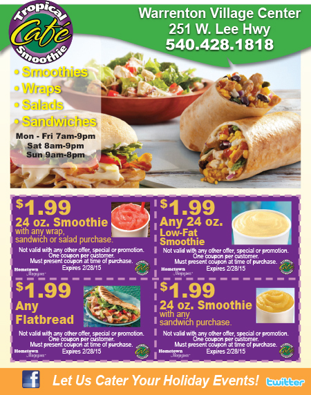 Tropical smoothie coupon code