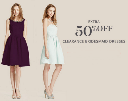 Extra 50% Off Clearance Bridesmaid Dresses