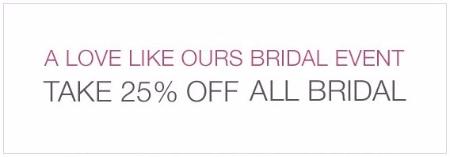 25% Off All Bridal