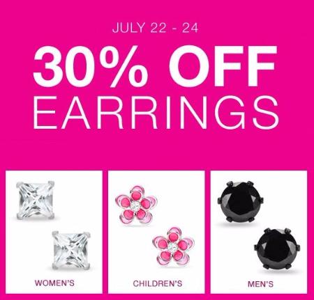 30% Off Earrings