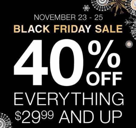 Black Friday Sale: 50% Off Everything $ and Up Starts Now! Click here for more details: Find a store near you: ***** A division of the Zale Corporation.