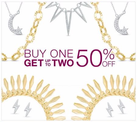Buy One, Get up to Two 50% Off Jewelry