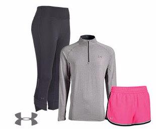 Men's, Women's Under Armor Running Apparel Starting at $17.98.