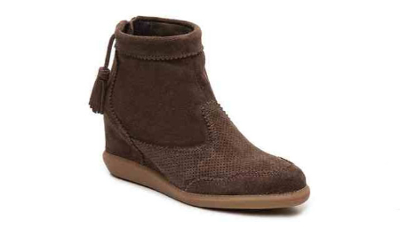 Brusque Suede Wedge Bootie