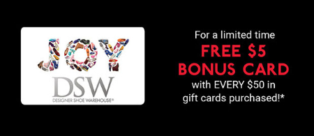Free $5 Bonus Card with $50 Purchase