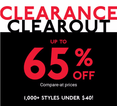 Up to 65% Off Clearance Clearout