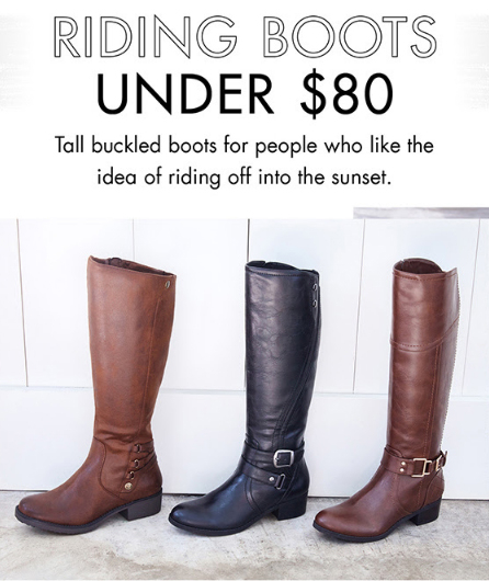 DSW Shoe Warehouse | Riding Boots Under $80