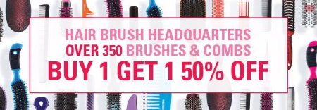 Buy 1, Get 1 50% Off Hair Brushes & Combs
