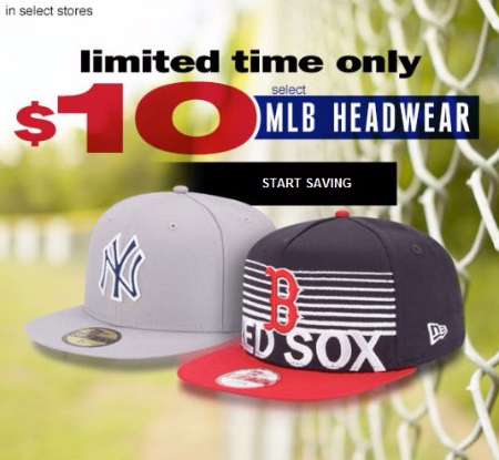 $10 Select MLB Headwear