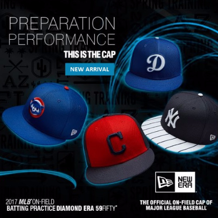 2017 MLB On-Field Batting Practice Diamond Era 59FIFTY Caps