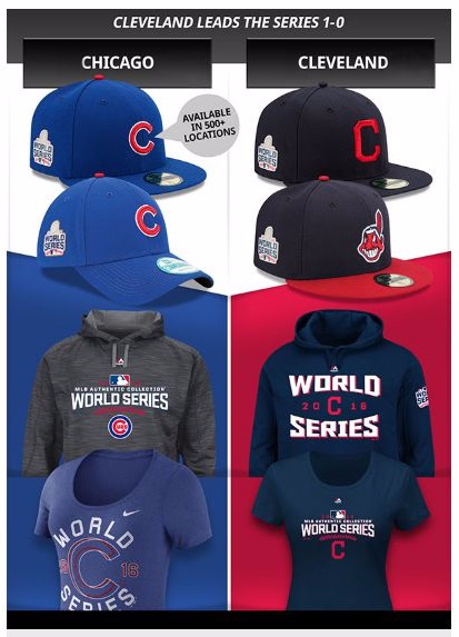 Rep your Team with World Series Gear
