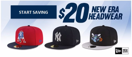 $20 New Era Headwear