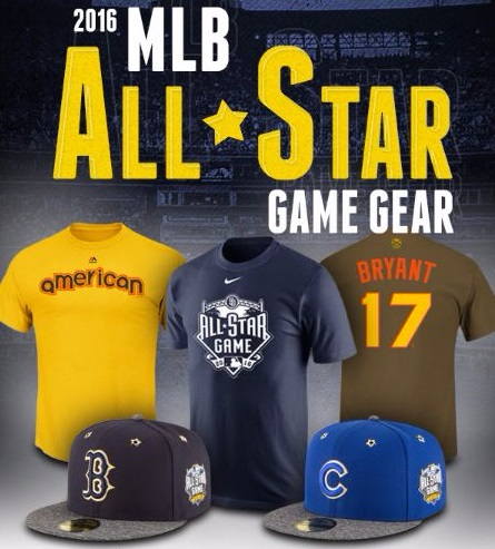 The 2016 MLB All Star Game Gear