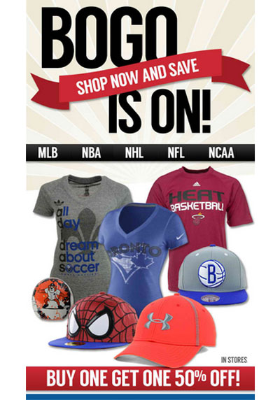 Buy One, Get One 50% Off at Lids