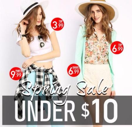 Spring Sale Under $10