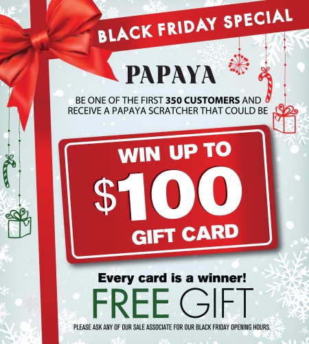 Citadel Outlets ::: Papaya's Black Friday Scratcher Event! ::: Papaya