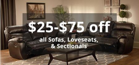 $25-$75 Off Furniture