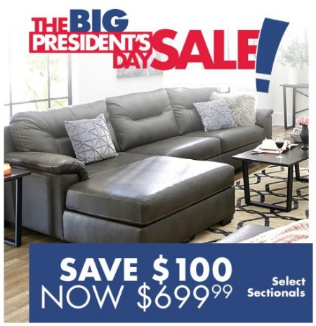 100 Off Select Sectionals Lots