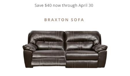 Save $40 on Braxton Sofa