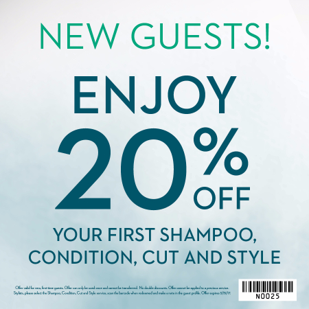 Special Offer For New Carlton Hair Guests!