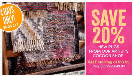 20% Off New Rugs