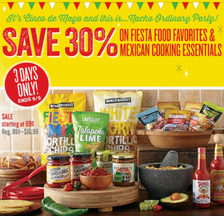 Save 30% on Fiesta Food