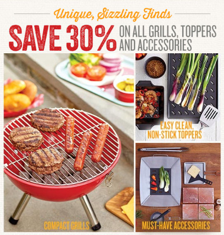 30% Off Grills, Toppers & Accessories