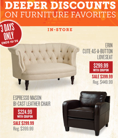 Deeper Discounts on Furniture Favorites
