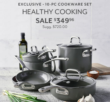 Hilldale ::: Exclusive 10-Pc Cookware Set for Only $349.96 ::: Sur ...