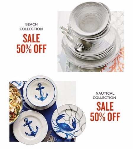 50% Off Beach Collection & Nautical Collection