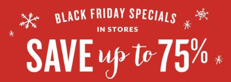 Black Friday Specials up to 75% Off