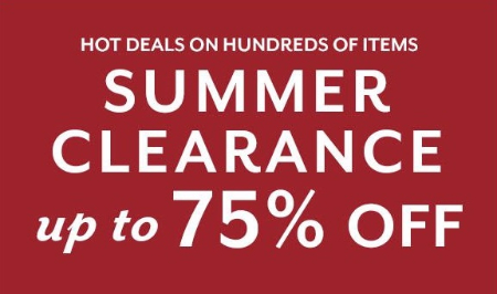 Summer Clearance up to 75% Off