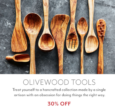 graphic regarding Sur La Table Printable Coupon known as Bayshore City Heart ::: 30% Off Olivewood Equipment ::: Sur la