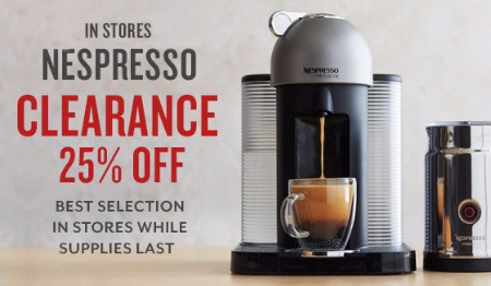 Nespresso Clearance 25% Off