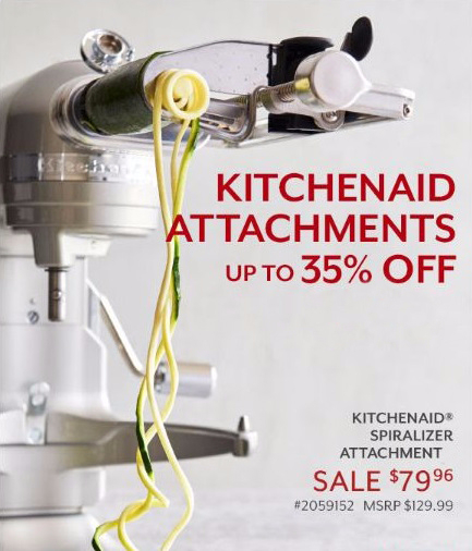 Up to 35% Off KitchenAid Attachments at Sur La Table