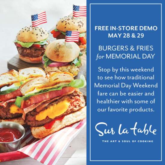 Free In-Store Demo: Burgers & Fries for Memorial Day