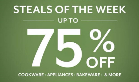 Steals of the Week up to 75% Off at Sur La Table