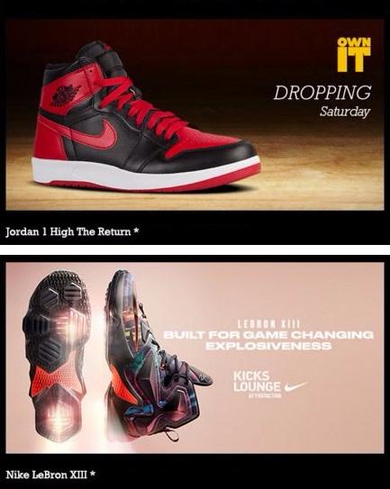 Shop Jordan 1 High the Return & LeBron XIII