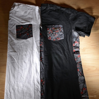 New Rocksmith Sakura Print Pocket Tees at FootAction USA