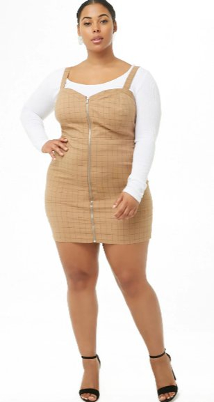 Genesee Valley Center Plus Size Grid Pinafore Dress Forever 21