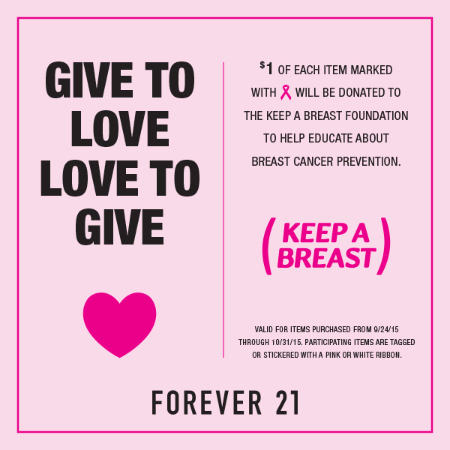 GIVE TO LOVE, LOVE TO GIVE at Forever 21