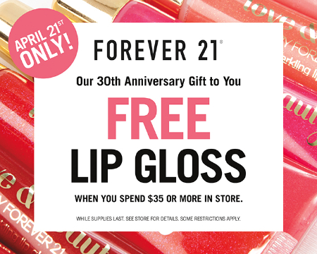 Free Lip Gloss! at Forever 21